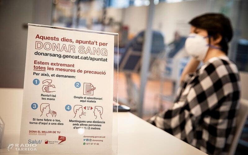El Banc de Sang i Teixits de Catalunya recollirà donacions els dies 6 i 7 d'abril a Tàrrega