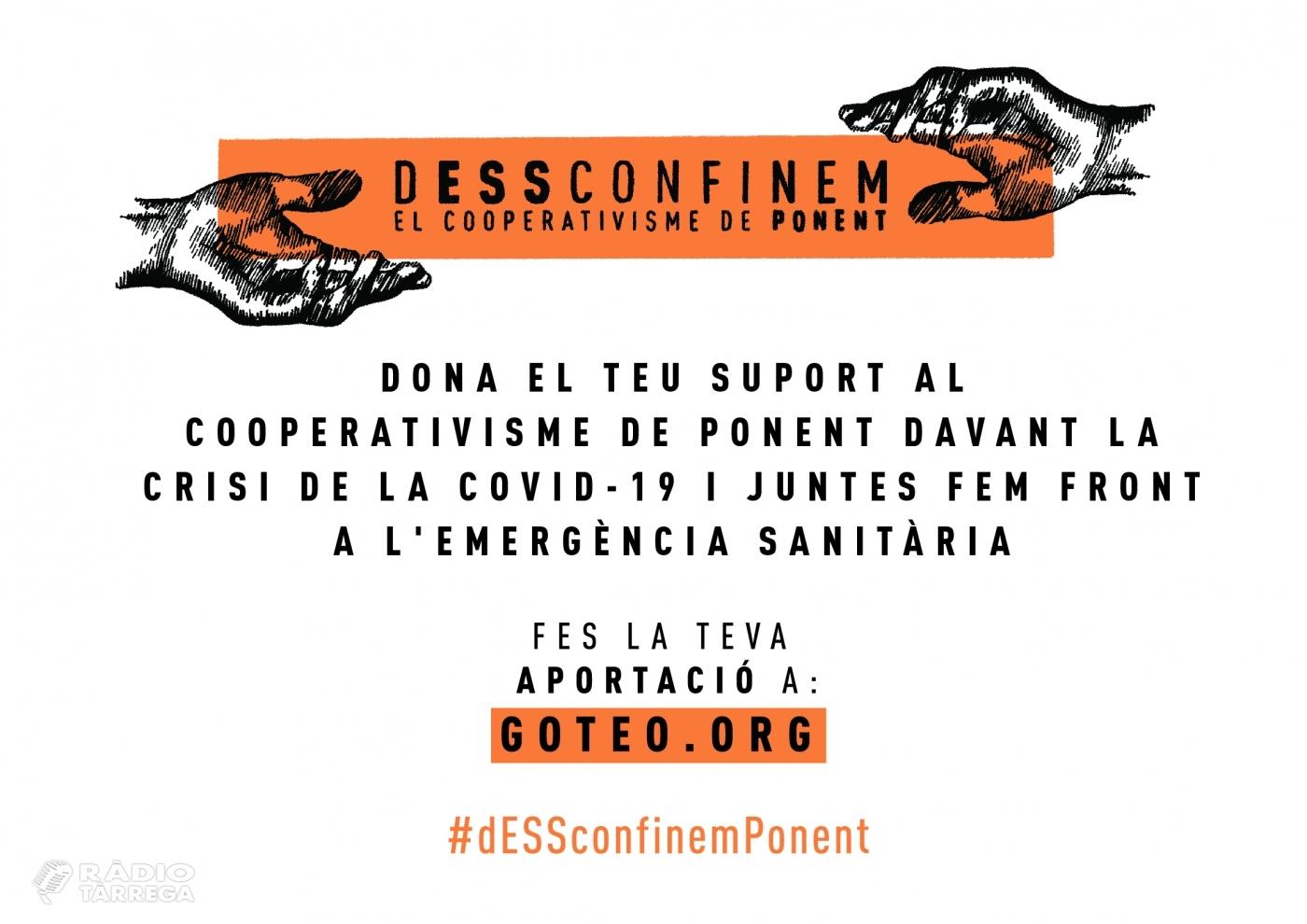 Ponent Coopera llança una campanya de micromecenatge de suport al teixit cooperatiu davant la crisi del coronavirus