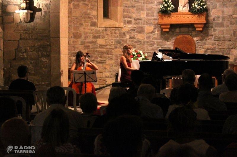 Tàrrega celebra amb èxit un concert de música clàssica a càrrec del Duo DeLIS en el marc de la festa de Sant Magí
