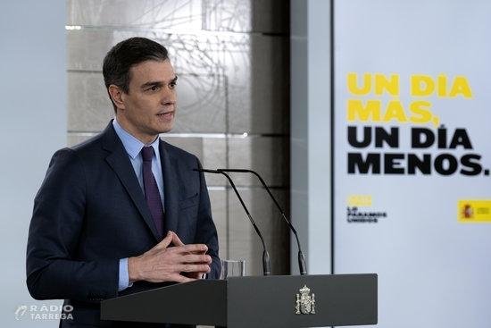 AMPLIACIÓ: Pedro Sánchez anuncia que la nova pròrroga de l'estat d'alarma aixecarà les restriccions laborals