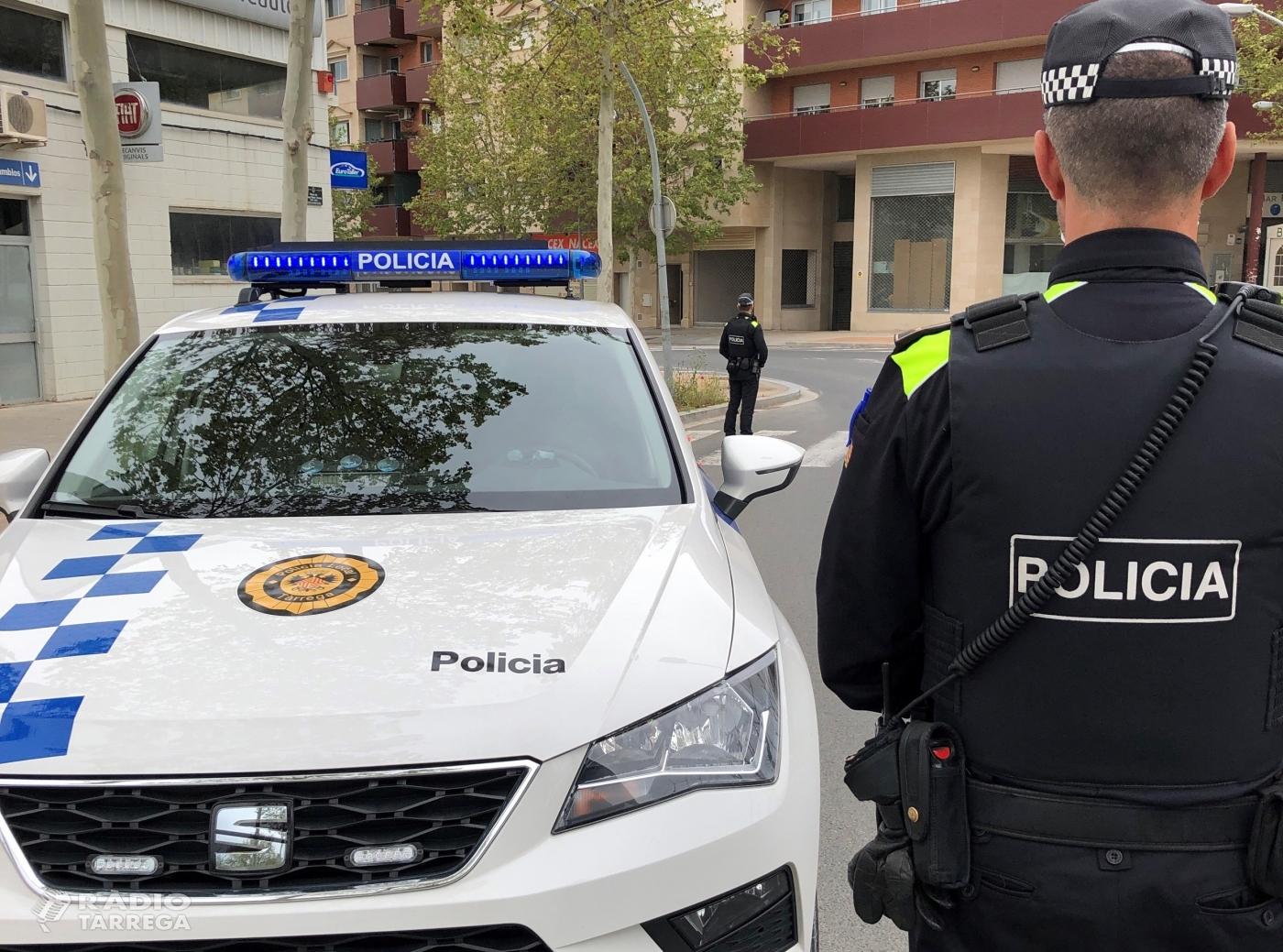 La Policia Local de Tàrrega deté dos homes per presumpte delicte contra la salut pública