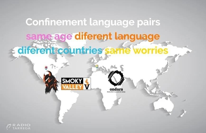 L'EASD Ondara de Tàrrega inicia l'activitat de parelles lingüístiques en confinament amb estudiants nord-americans