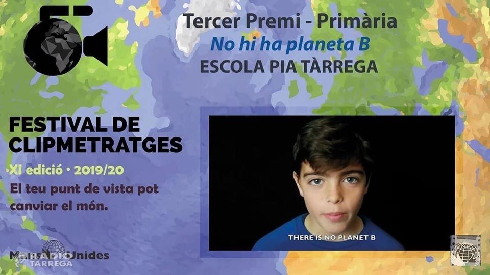 L'Escola Pia de Tàrrega guanya el tercer premi de primària en l'onzena edició del Festival de Clipmetratges de Mans Unides categoria escolar