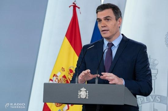 Sánchez anuncia una nova pròrroga de l'estat d'alarma, fins el 9 de maig i l'alleujament del confinament dels menors a partir del 27 d'abril