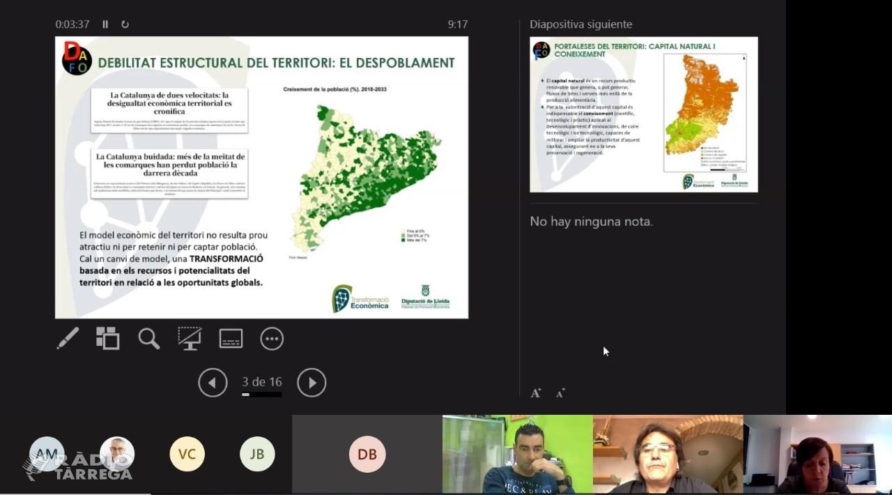 La Diputació vol que Lleida sigui un referent en el canvi de model global de creixement i transformació econòmica
