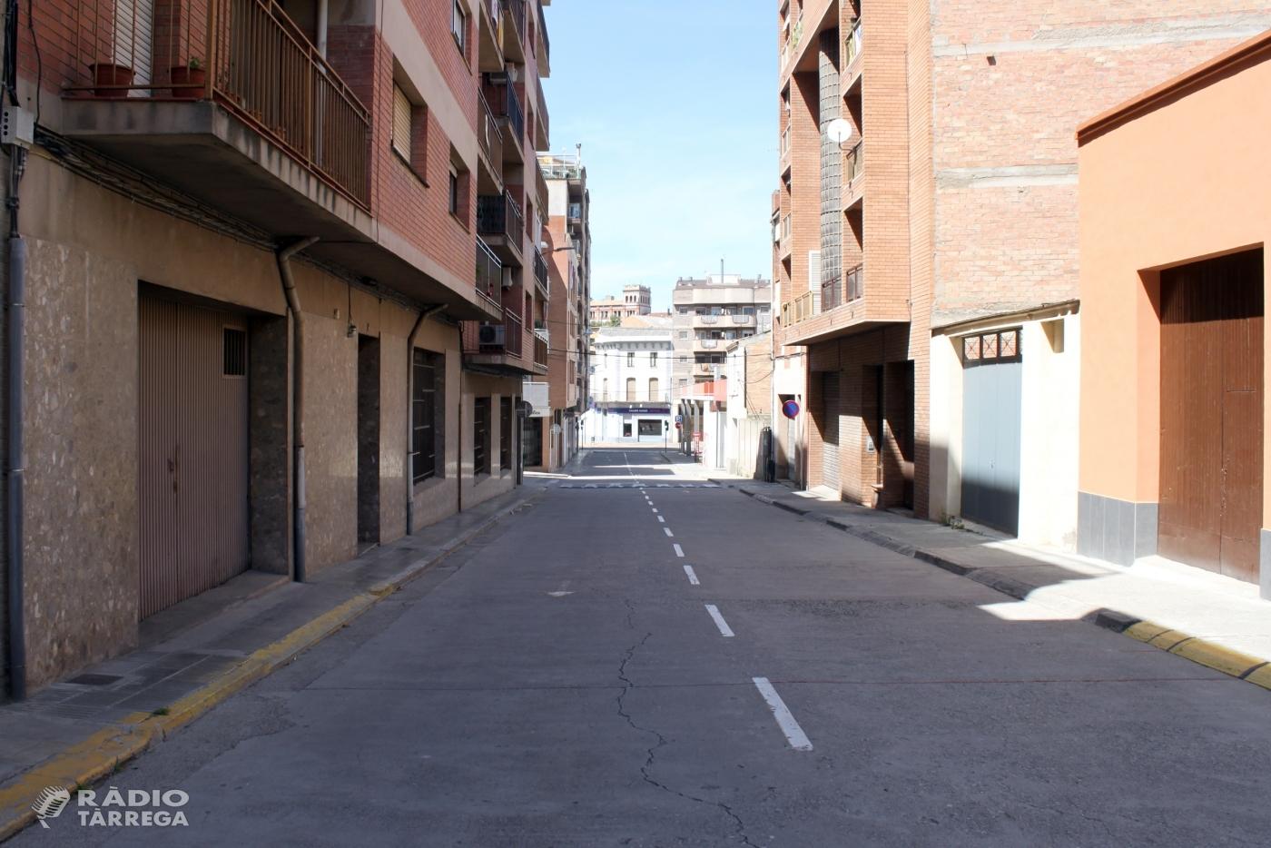 L'Ajuntament de Tàrrega aprova el projecte urbanístic per ampliar la vorera oest i millorar l'accessibilitat al carrer de Santa Clara