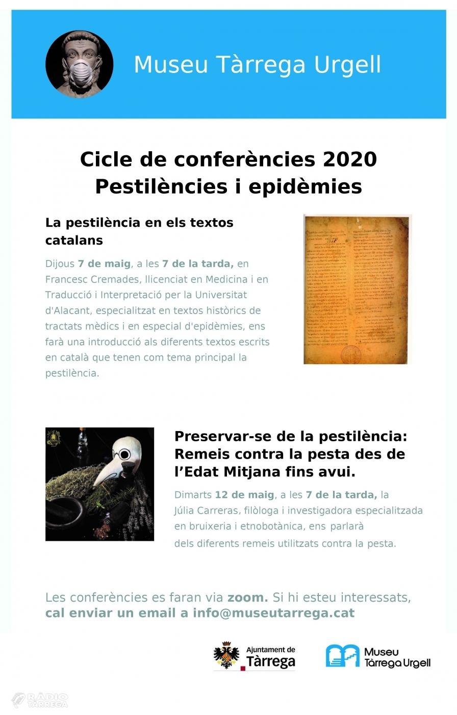 ACTUALITZACIÓ: El Museu Tàrrega Urgell oferirà per via telemàtica un programa de conferències sobre la pandèmia de la pesta a l'Edat Mitjana
