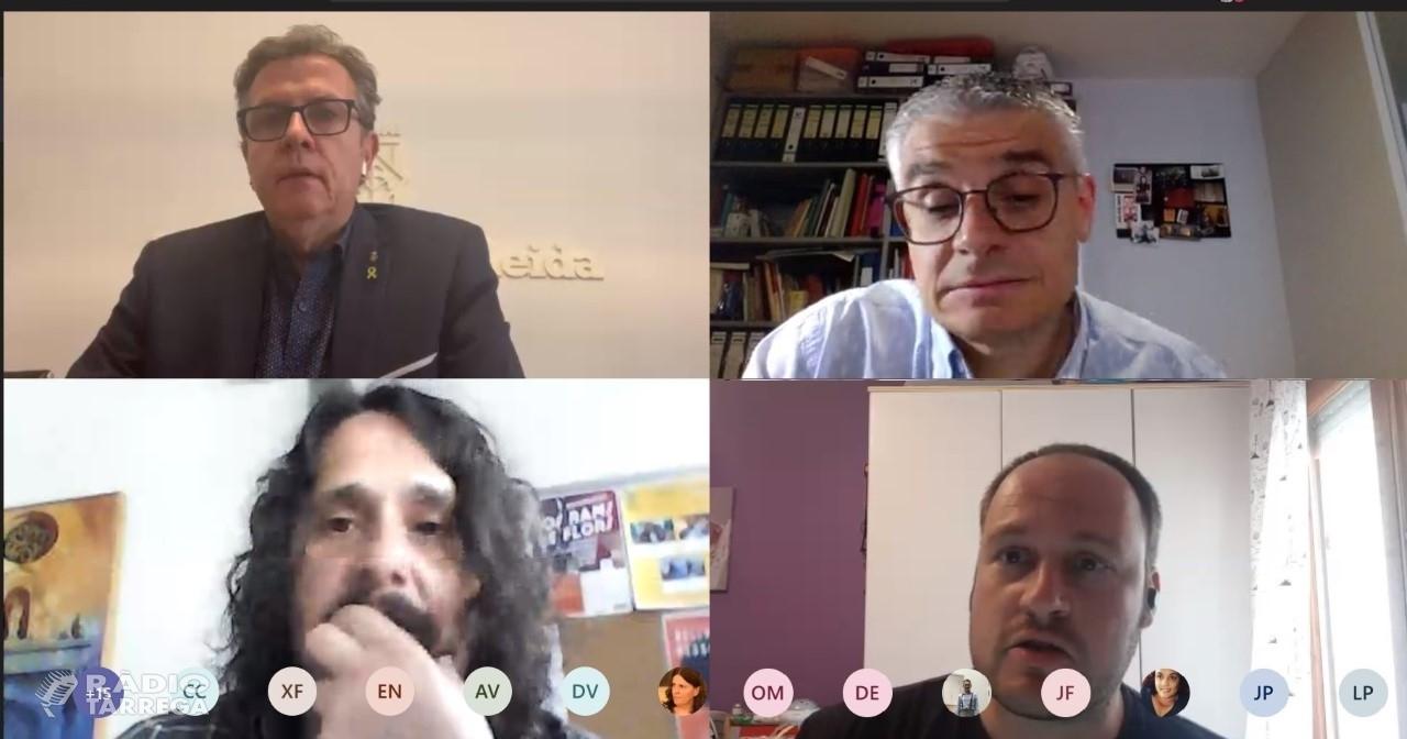 Reunió del govern de la Diputació i el Consell Comarcal de l'Urgell per explicar el pla de xoc per combatre la crisi sanitària i de serveis provocada per la COVID-19