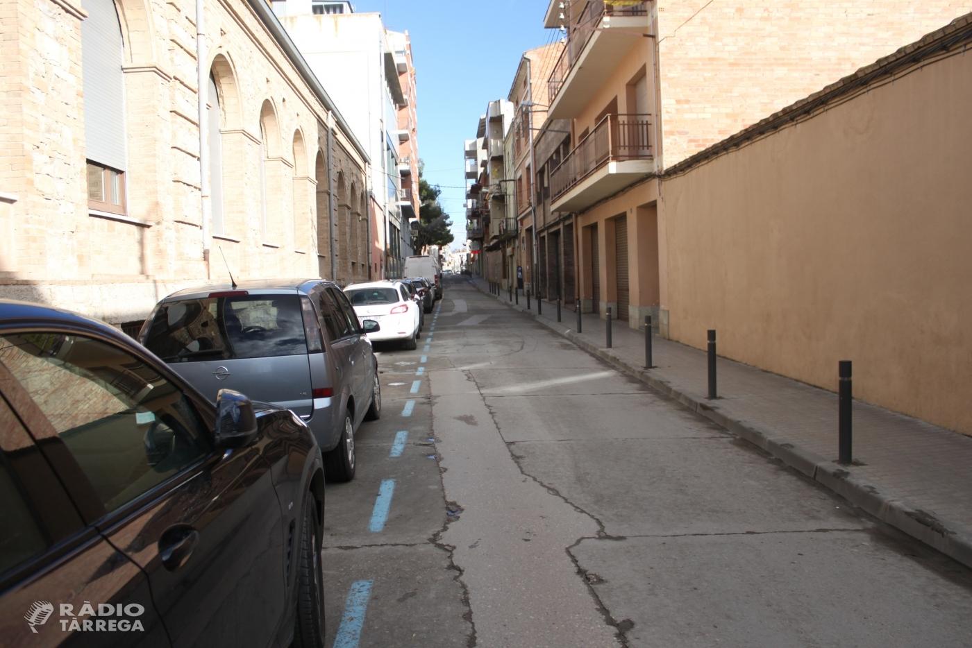 L'Ajuntament de Tàrrega adjudica les obres de renovació del carrer de Jacint Verdaguer, que s'iniciaran el mes vinent