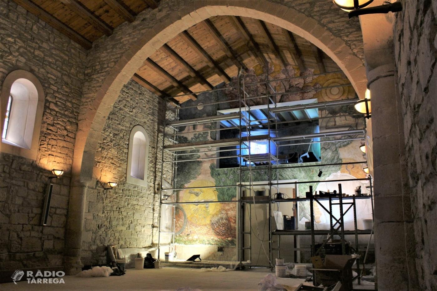 Josep Minguell es confina a l'ermita de Sant Eloi de Tàrrega per pintar el seu darrer mural