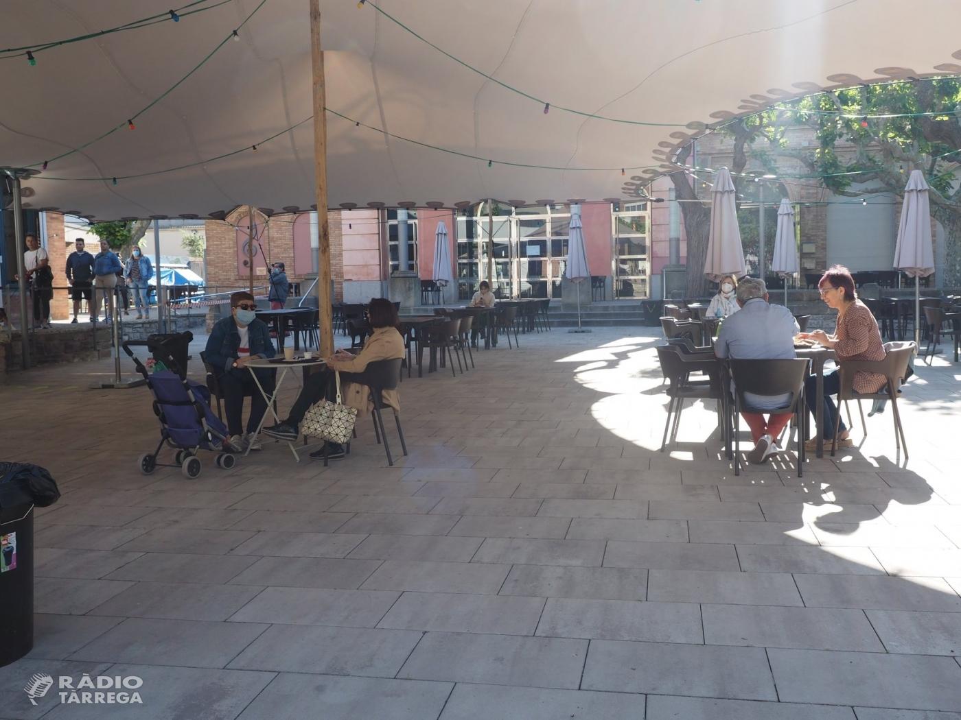 Bars i restaurants de Tàrrega obren les seves terrasses respectant les mesures de prevenció i seguretat