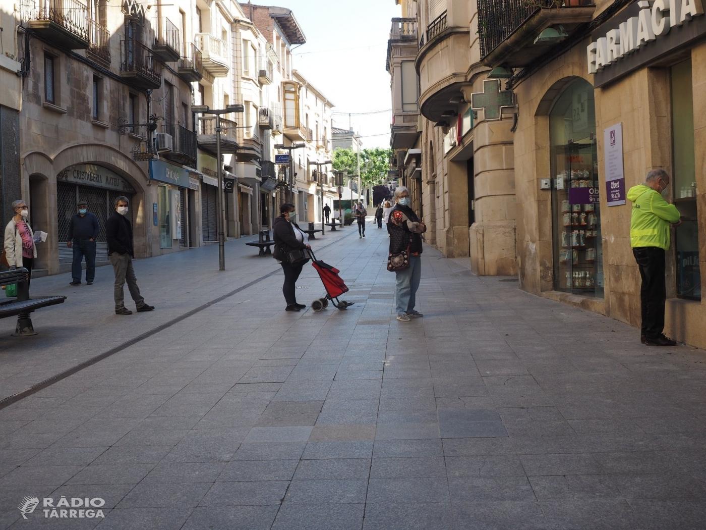 L'alcaldessa de Tàrrega valora positivament la reactivació econòmica de la ciutat en fase 1 però fa una crida a la població a la no relaxació