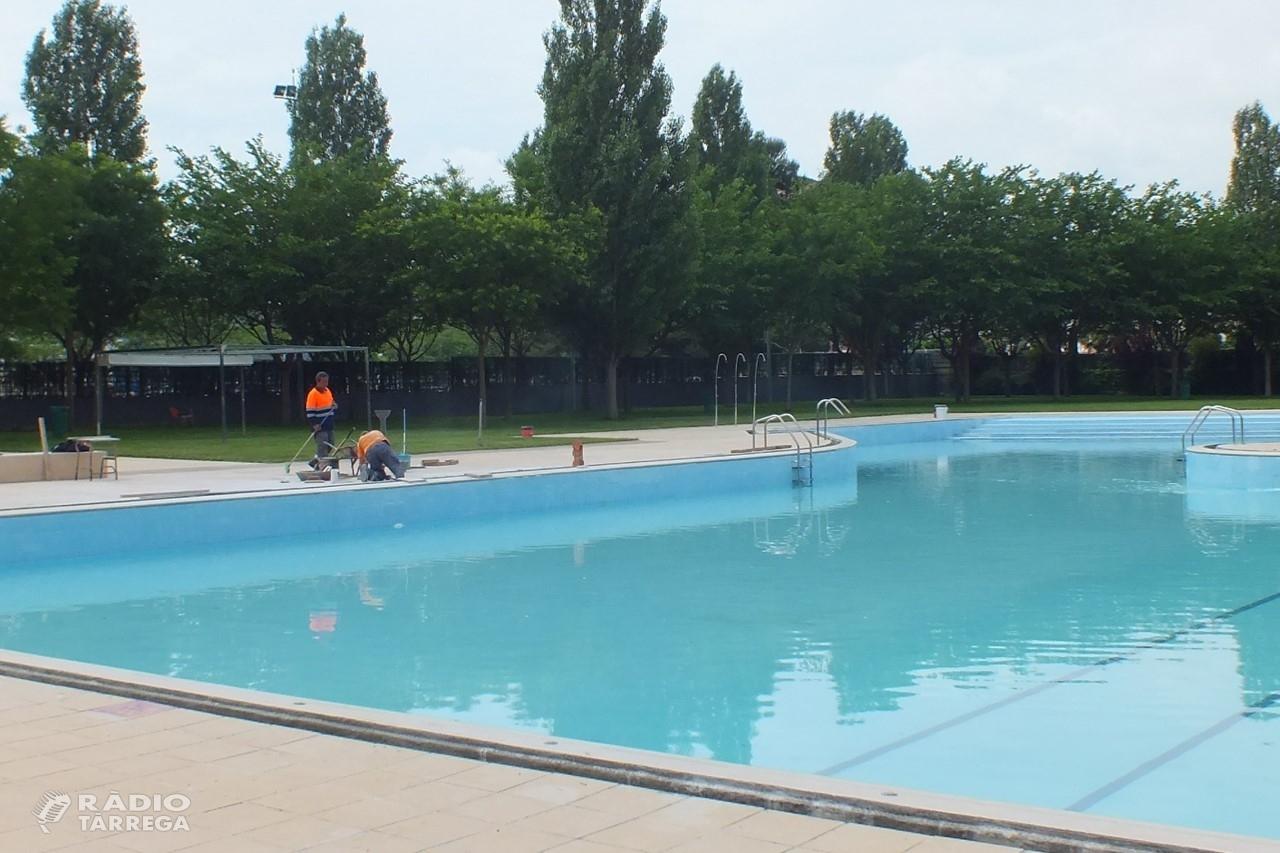L'Ajuntament de Tàrrega assumeix la gestió directa de les piscines municipals d'estiu i convoca borses de treball + L'equipament s'adaptarà a les mesures sanitàries de seguretat