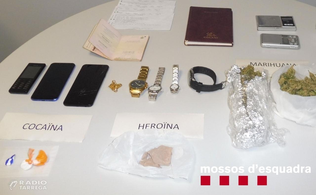 Ingressa a presó un detingut que venia drogues des del seu domicili a Guissona