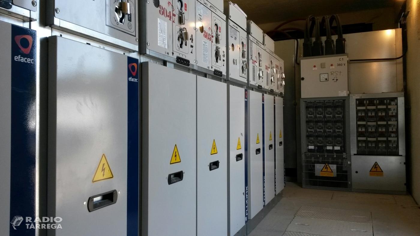 Endesa renova tecnològicament part de la xarxa elèctrica de Tàrrega per a millorar el servei