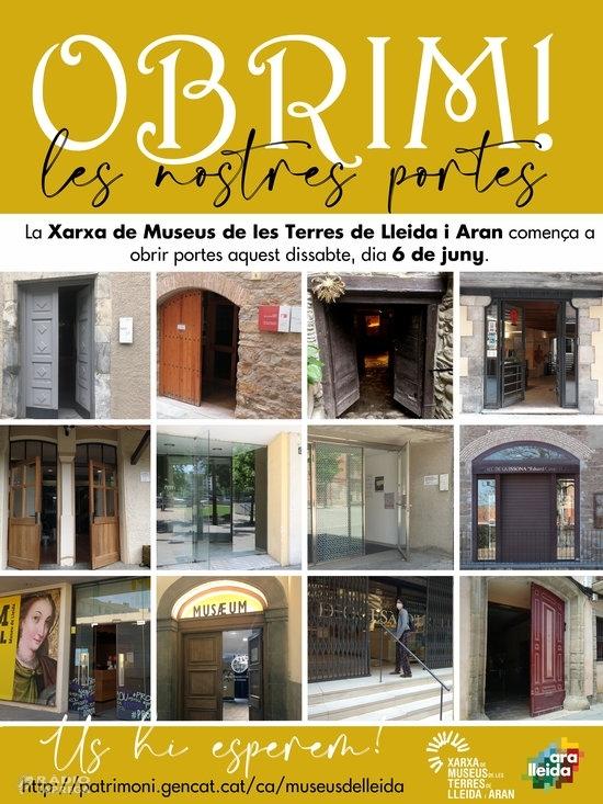 Els espais de la Xarxa de Museus de les Terres de Lleida i Aran reobriran els pròxims dies amb mesures de seguretat