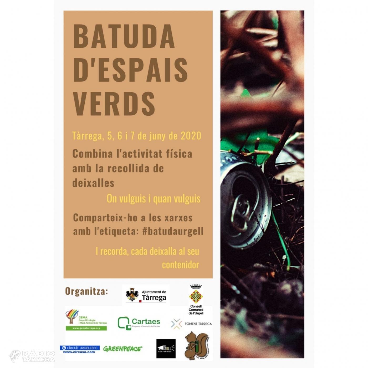 GEMA fa una crida a participar en una 'Batuda d'espais verds' coincidint amb la celebració del Dia Mundial del Medi Ambient