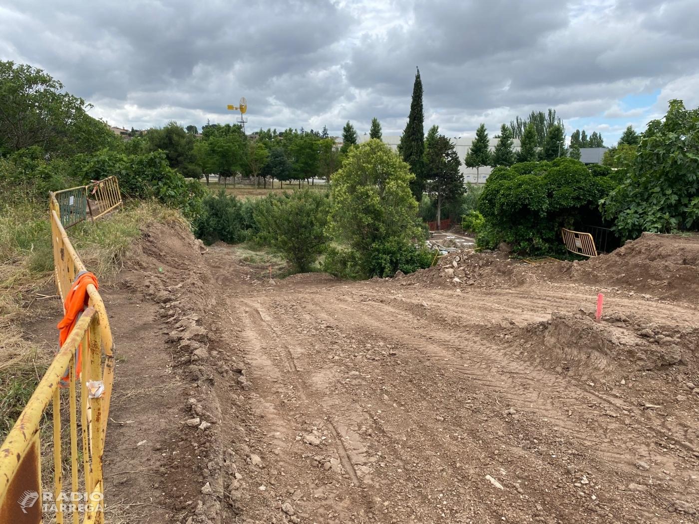 L'Ajuntament de Tàrrega i SOREA instal•len un nou col•lector d'aigües pluvials a la zona del horts