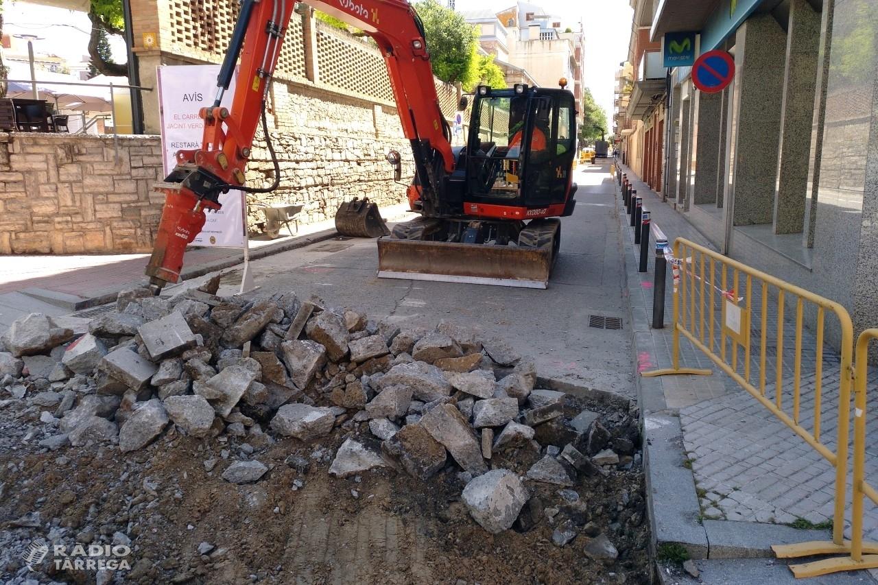 L'Ajuntament de Tàrrega inicia les obres de renovació del carrer de Jacint Verdaguer