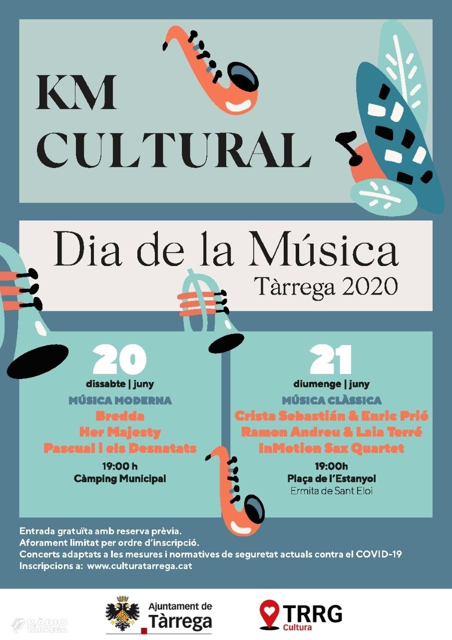 L'Ajuntament de Tàrrega reactiva el sector cultural amb dos concerts de petit format els dies 20 i 21 de juny