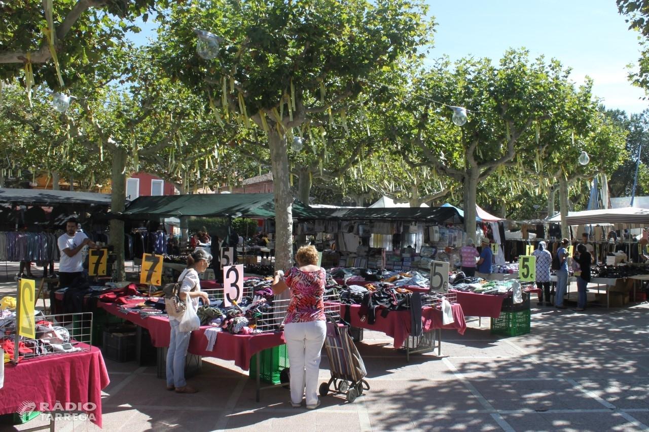 El mercat setmanal de Tàrrega recupera totes les parades a partir del dilluns 22 de juny al seu lloc habitual