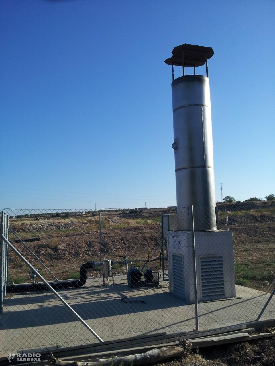 L'abocador de residus urbans de l'Urgell ha emès 120 tones de metà i 286 de CO2durant el 2019