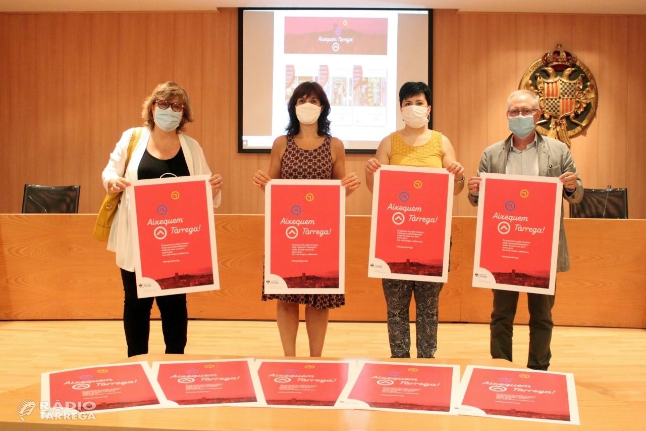 L'Ajuntament de Tàrrega posa en marxa una campanya per fomentar la reactivació del teixit comercial i empresarial