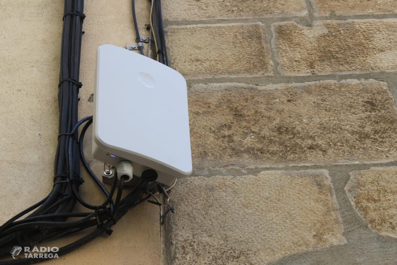 Tàrrega posa en marxa el servei de wifi gratuït en diversos espais i equipaments públics de la ciutat