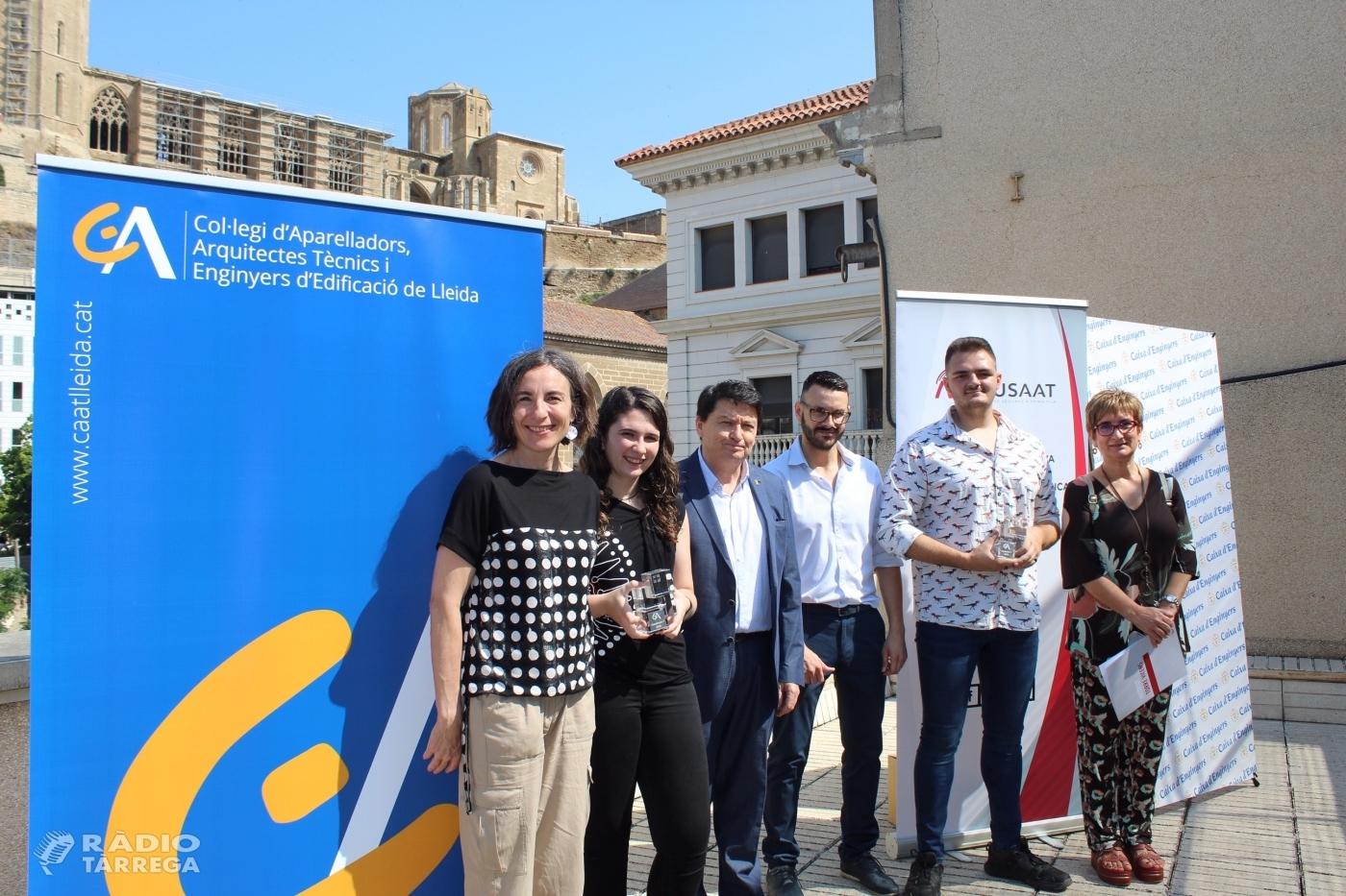 Alba Vilella de l'Escola de Sobreestants i un equip de l'Institut Torre Vicens, premi Construeix-T 2020
