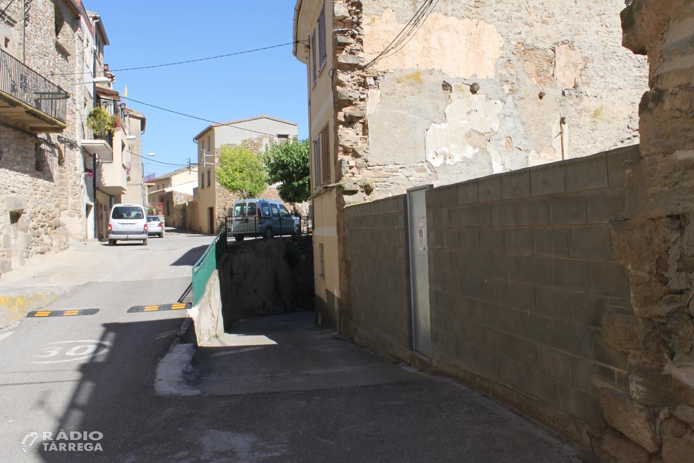 L'Ajuntament de Tàrrega habilitarà una zona d'estacionament gratuït al poble de Claravalls