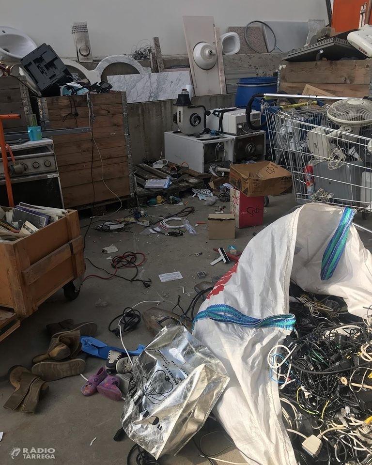 Cartaes de Tàrrega denuncia un nou robatori al recinte de la deixalleria