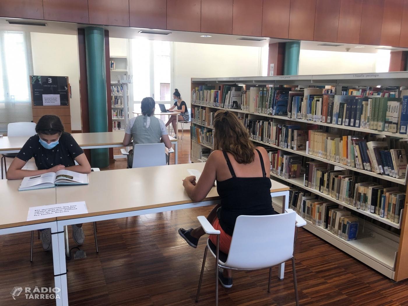 Reobren les sales de lectura de la Biblioteca Pública de Tàrrega – Germanes Güell amb el 50% de l'aforament permès