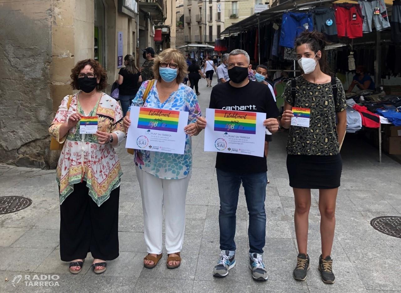 Tàrrega convida els establiments a identificar-se com a espai lliure de violències i discriminacions contra el col·lectiu LGBTIQ+ a través d'un adhesiu
