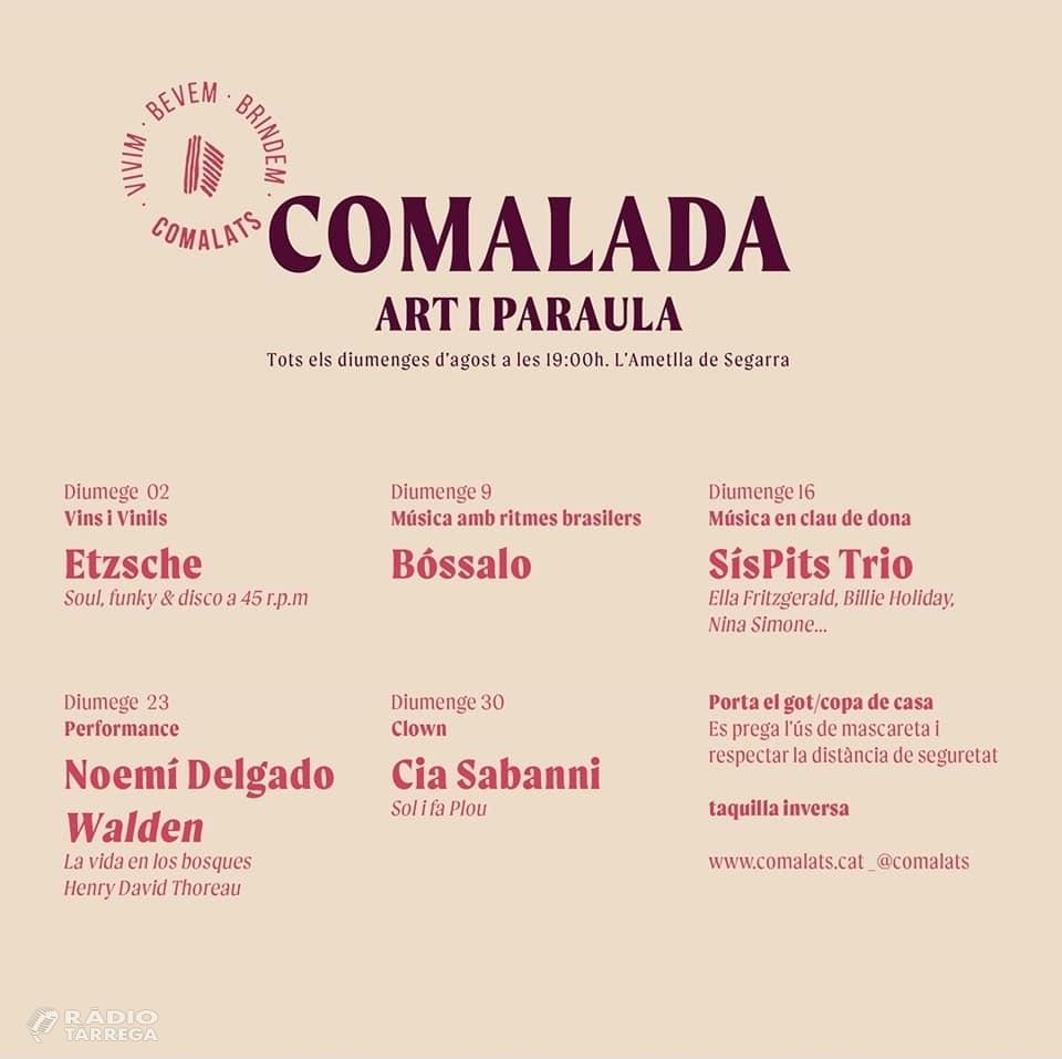Torna el Festival 'Comalada Art i Paraula' al celler Comalats els diumenges d'agost