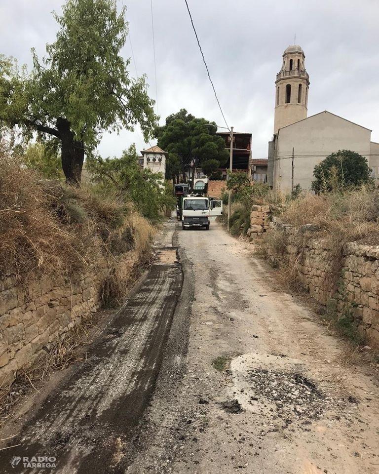 Inici de les obres d'urbanització del camí de la Costa de la Ribera de Sant Martí de Maldà