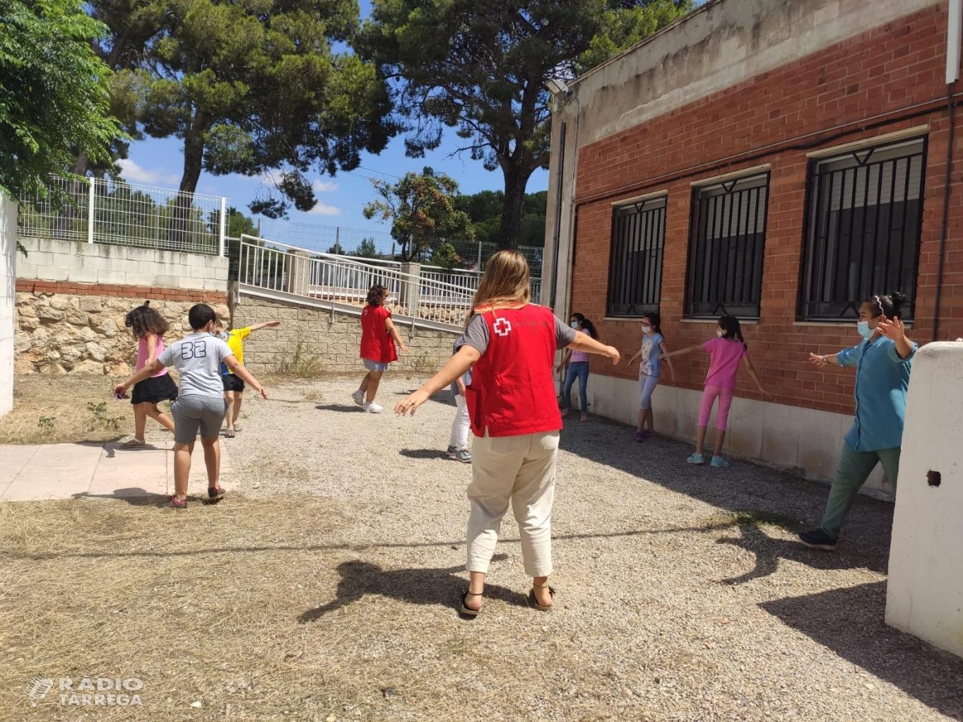 81 infants de famílies en situació de vulnerabilitat  gaudeixen del casal d'estiu de Creu Roja amb totes les mesures de seguretat