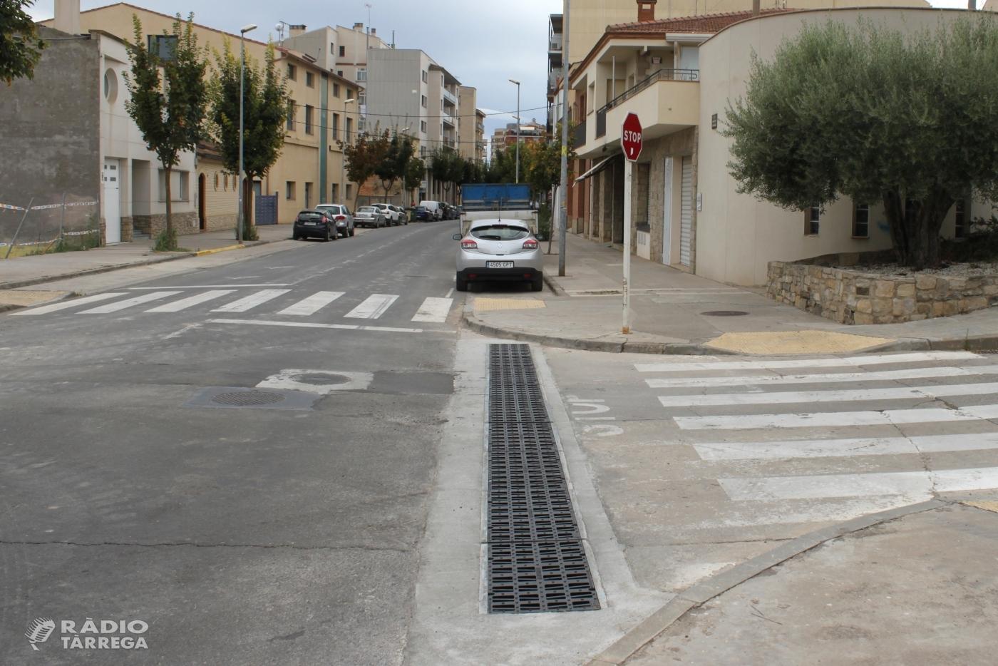 Tàrrega finalitza la instal·lació d'un nou col·lector d'aigües pluvials a l'avinguda de la Generalitat
