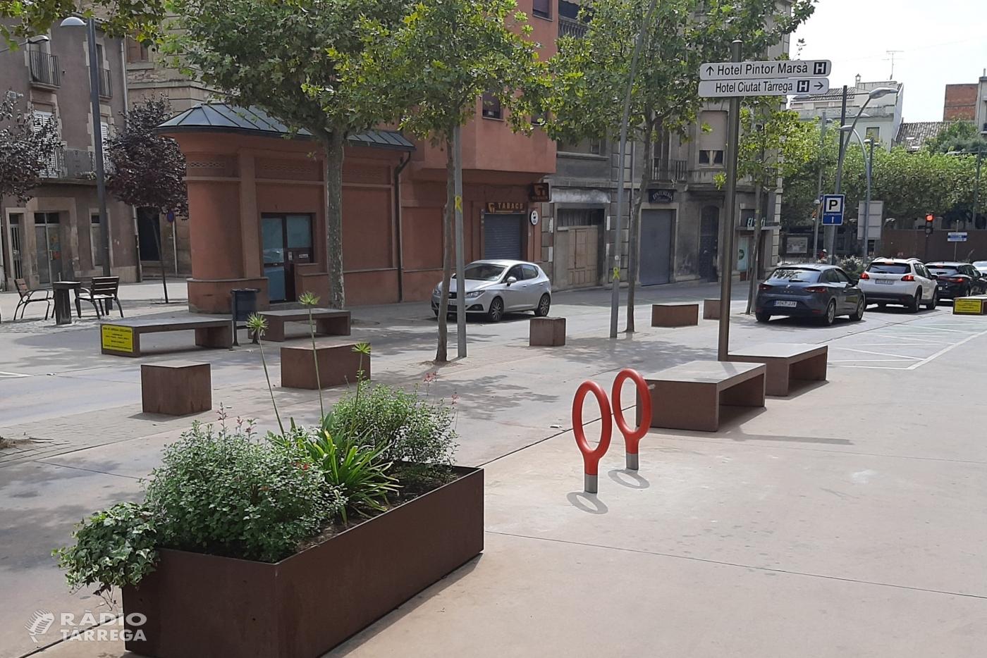 L'Ajuntament de Tàrrega amplia la dotació d'aparcabicis a les avingudes de Catalunya i Raval del Carme