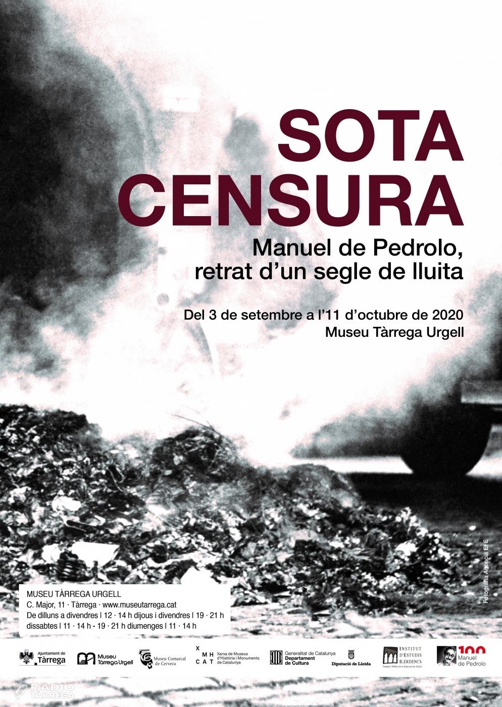 El Museu Tàrrega Urgell obre al públic una nova exposició sobre l'escriptor Manuel de Pedrolo a partir del 3 de setembre