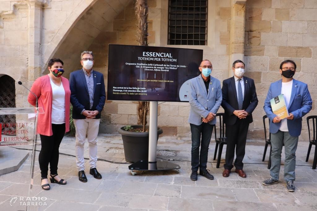 La nau central de la Seu Vella acull el concert 'Essencial' de record de les víctimes de la covid-19 a Ponent