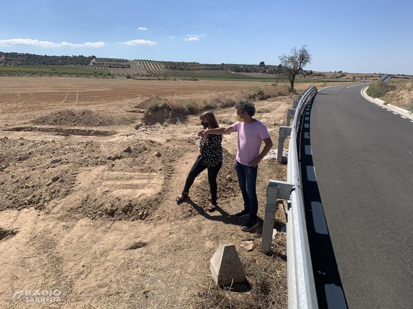 S'inicien les intervencions arqueològiques als Estinclells prèvies a la modificació del traçat de la carretera de Tàrrega a Sant Martí de Maldà