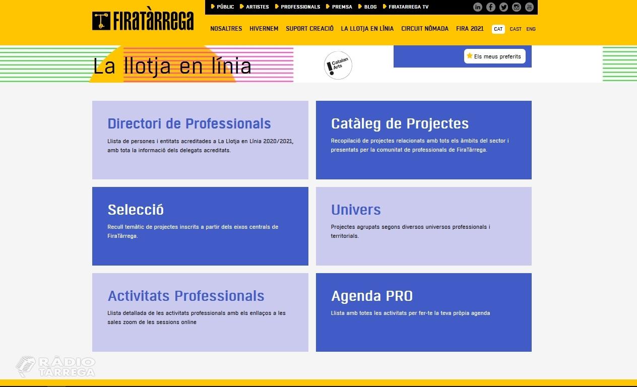 La Llotja en Línia: la trobada professional internacional de FiraTàrrega Pro Catalan Arts es transforma en una plataforma de mercat digital i permanent
