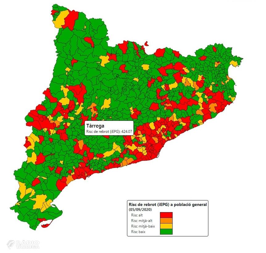 Continua l'augment del risc de rebrot a Tàrrega i a la comarca de l'Urgell
