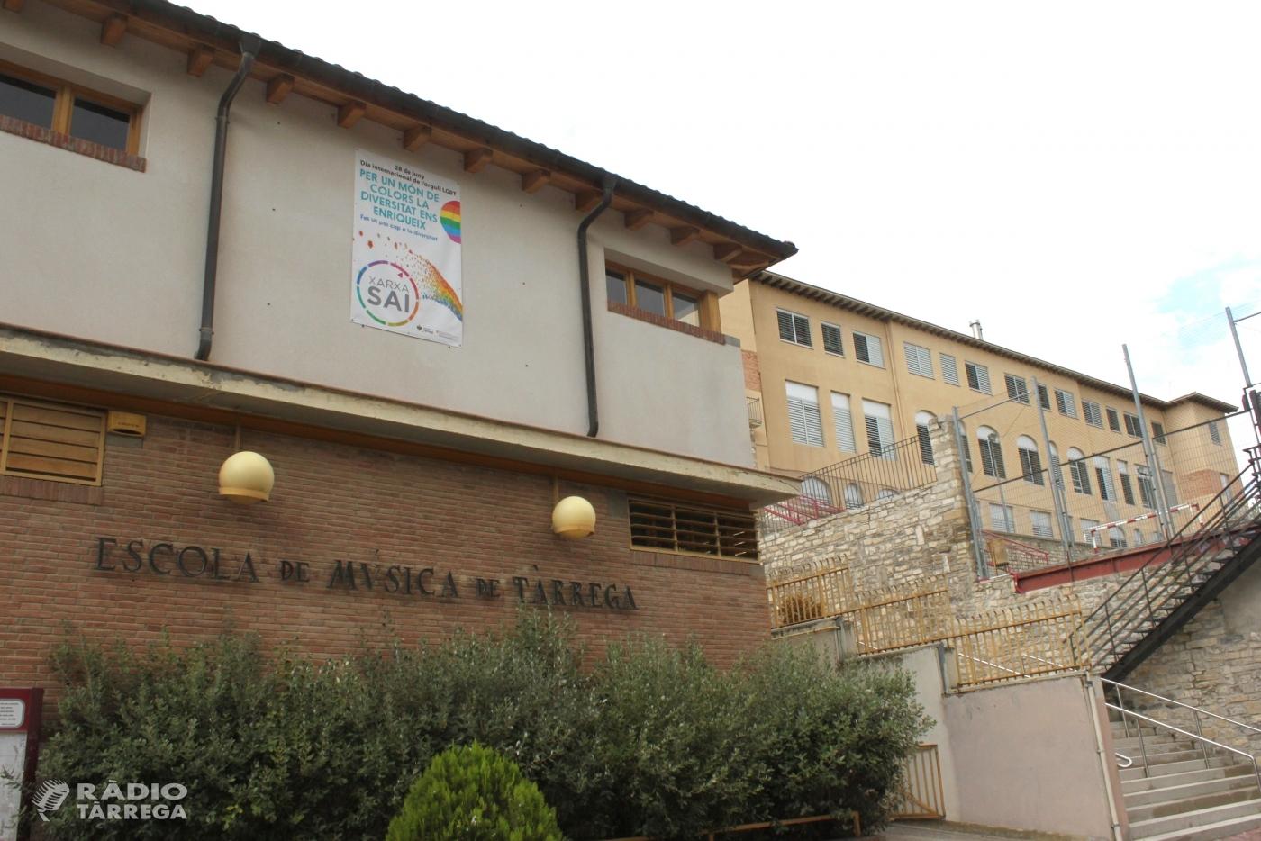 L'Escola Municipal de Música de Tàrrega utilitzarà dues aules i el gimnàs del CEIP Jacint Verdaguer per garantir la distància entre grups d'alumnes