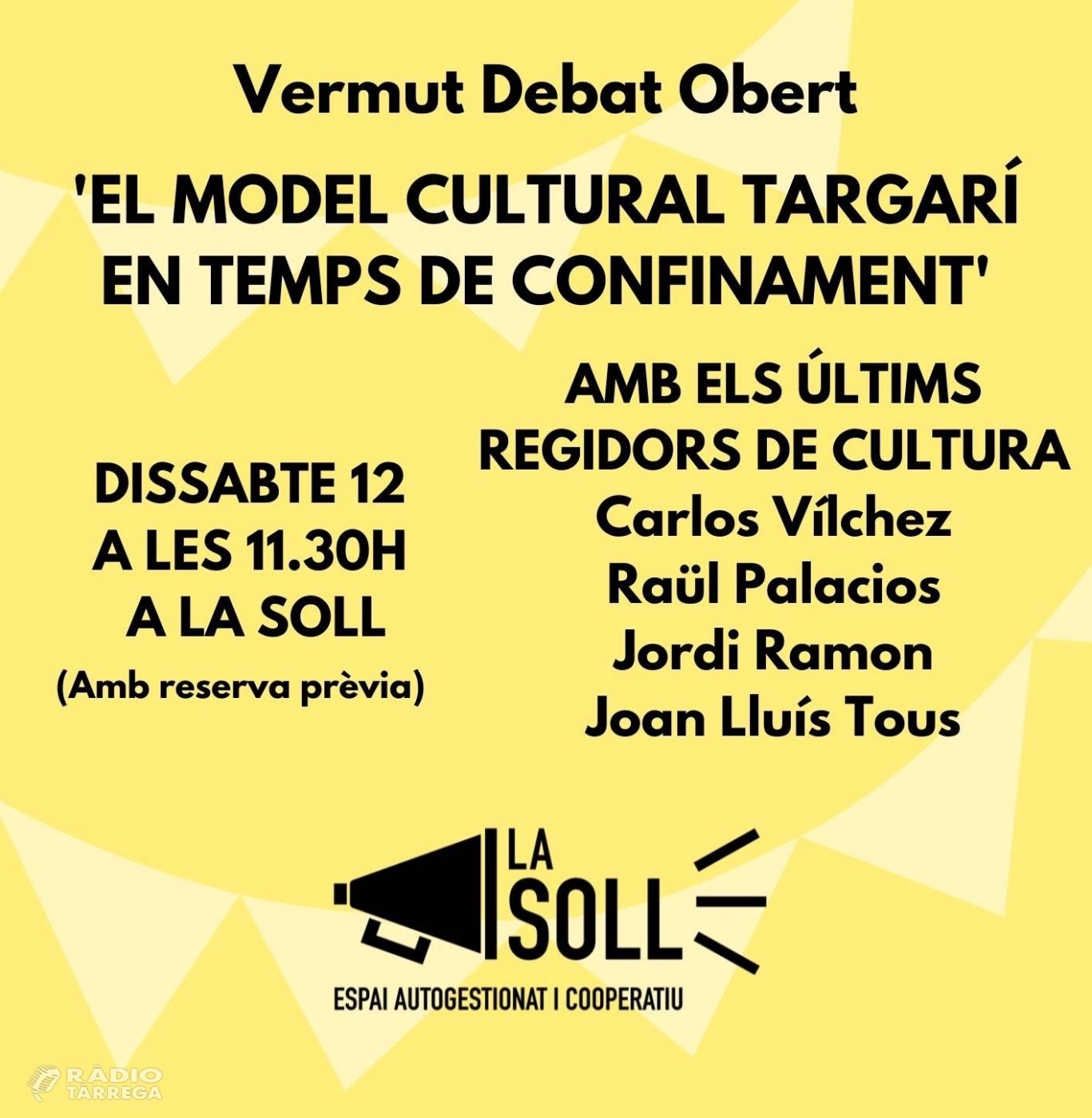 La Soll inicia dissabte un cicle de debats de model de ciutat de Tàrrega i s'estrenarà amb la cultura en temps de confinament