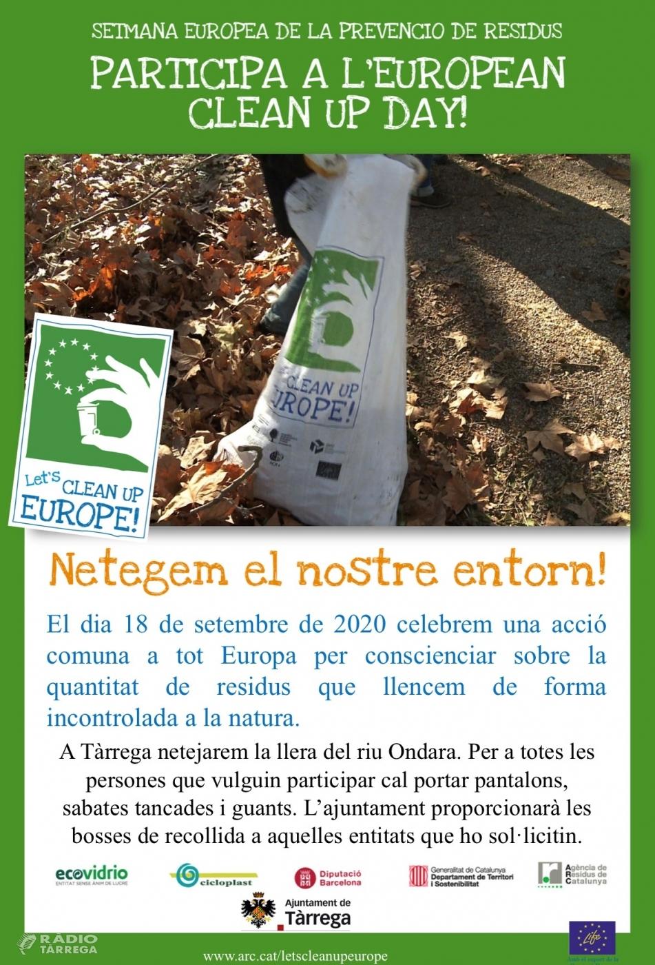 Tàrrega s'adhereix a la campanya 'Let's Clean Up Europe'