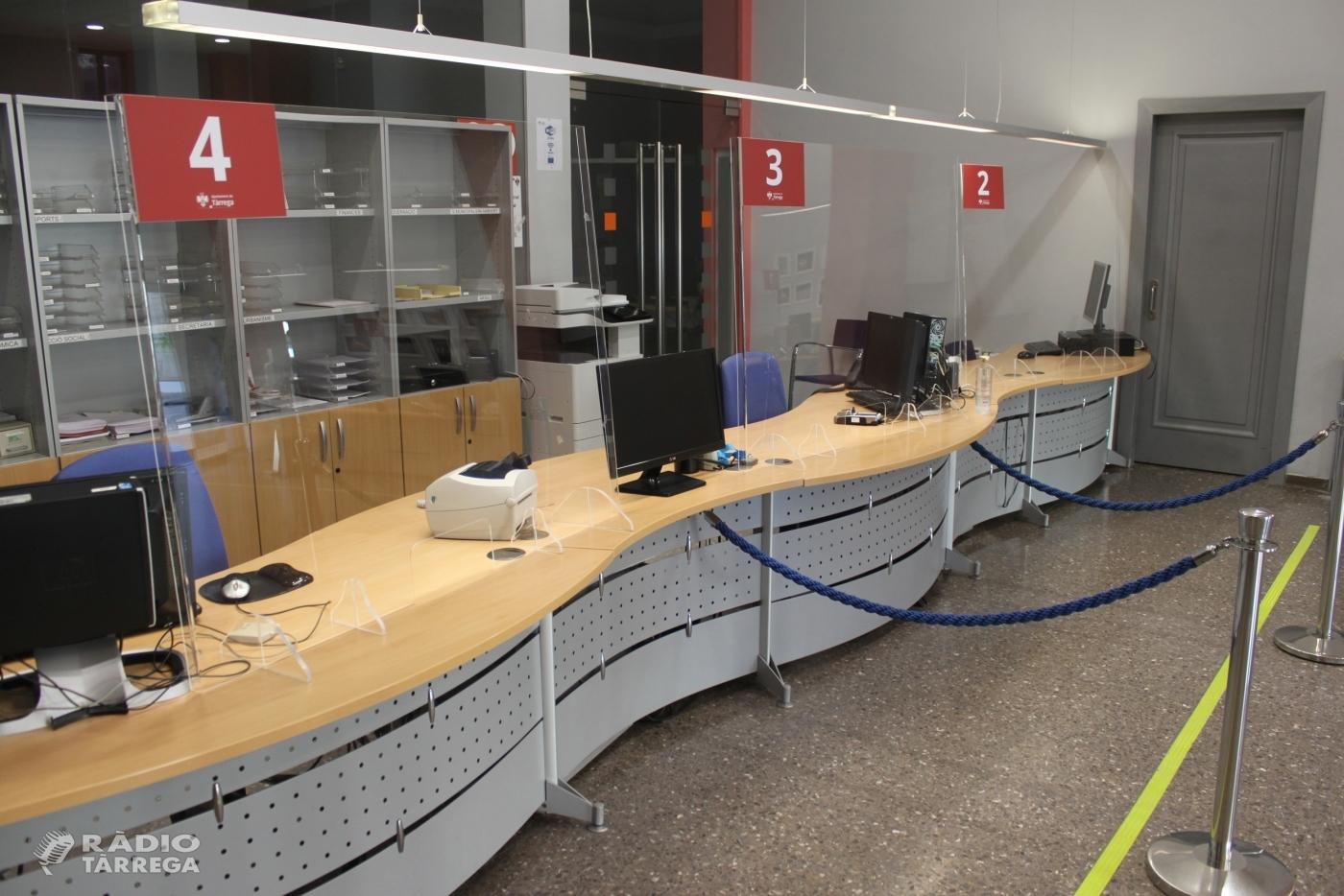 L'Ajuntament de Tàrrega implanta el sistema de cita prèvia a l'Oficina d'Atenció Ciutadana a partir de l'1 d'octubre