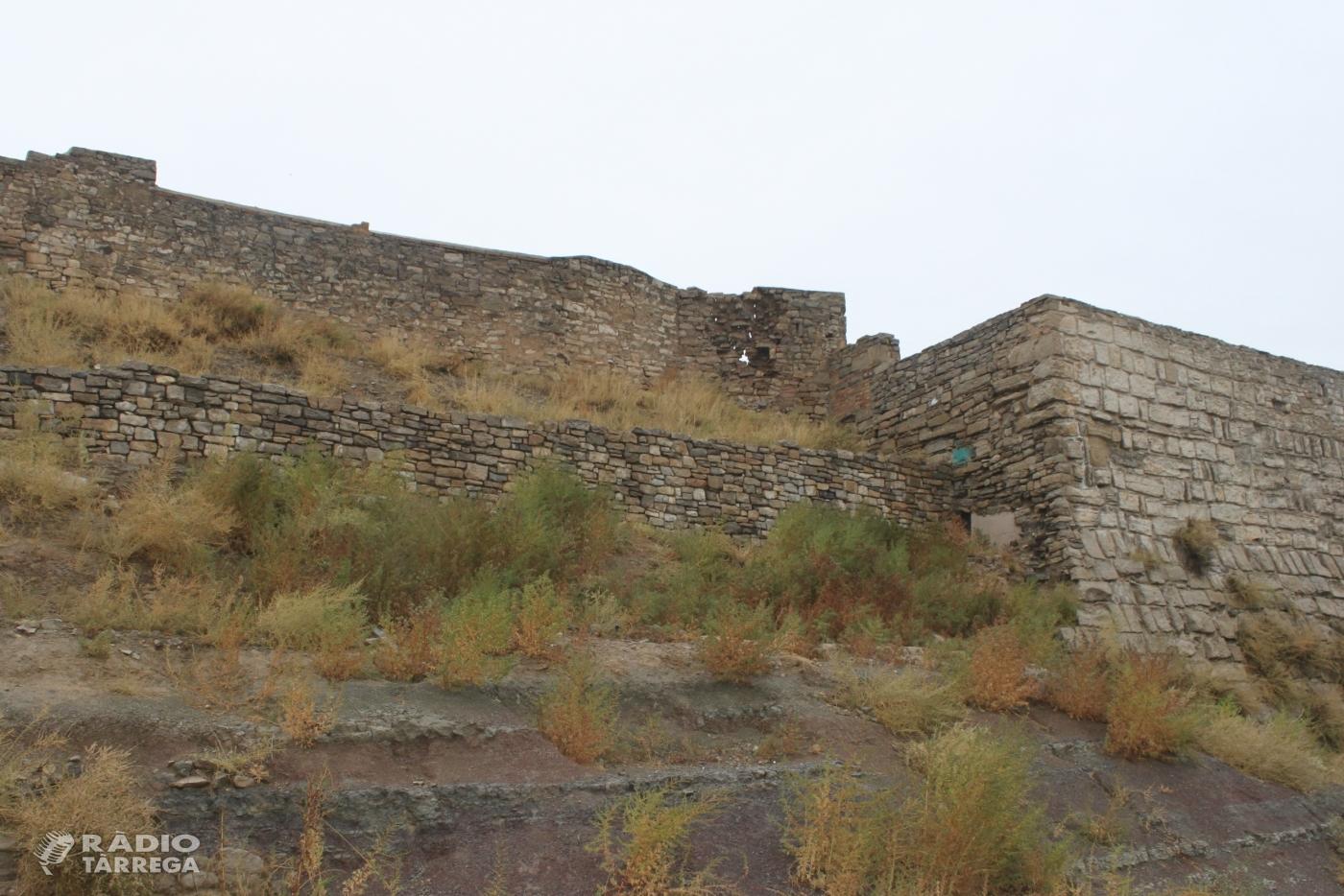 Tàrrega aprova un conjunt d'accions urgents per restaurar i preservar el mur sud del castell