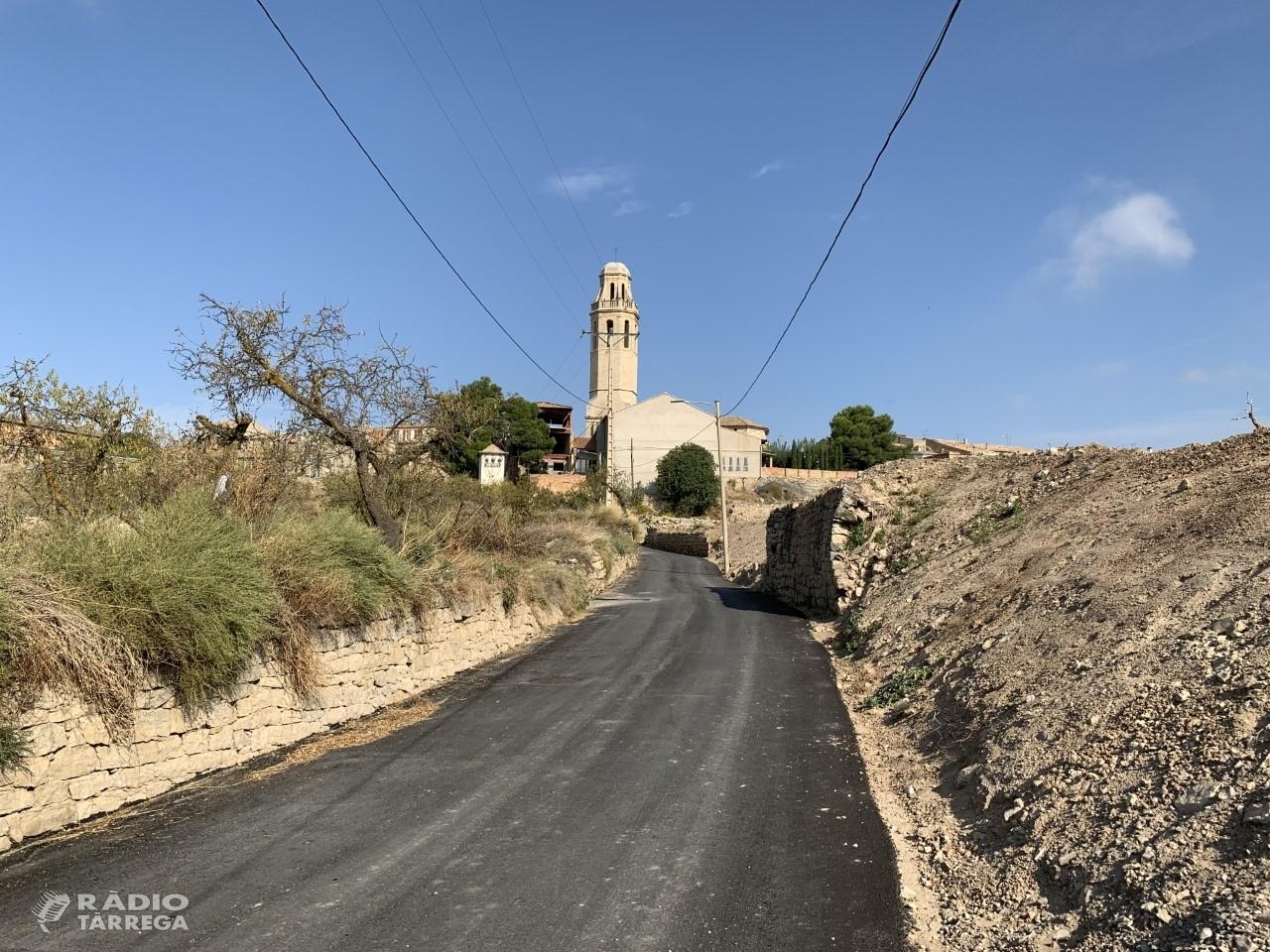 Finalització de les obres d'urbanització del camí de la Costa de la Ribera de Sant Martí de Maldà