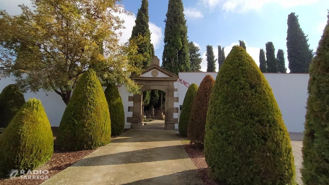 L'Ajuntament d'Agramunt habilitarà dos accessos al cementiri per evitar aglomeracions
